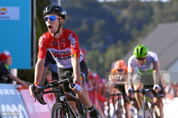 Arrival / Bjorg Lambrecht of Belgium and Team Lotto Soudal / during the 11th Tour des Fjords 2018 Stage 3 a 183km stage from Farsund to Egersund on...