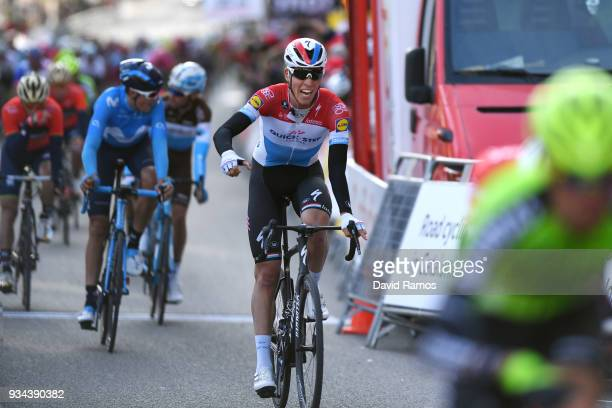 Arrival / Bob Jungels of Luxembourg and Team Quick-Step Floors / during the 98th Volta Ciclista a Catalunya 2018, Stage 1 a 152,3km stage from...