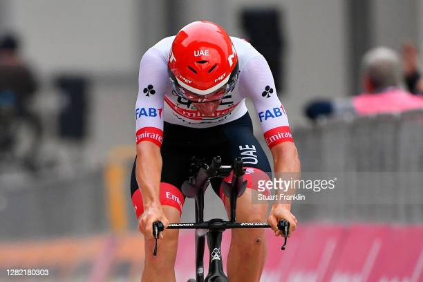 Arrival / Brandon Mcnulty of The United States and UAE Team Emirates / during the 103rd Giro d'Italia 2020, Stage 21 a 15,7km Individual time trial...