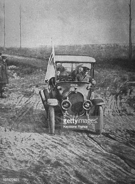 Arrival By Car Of German Plenipotentiaries To Capelle Near Haudroy In France On November 7Th 1918