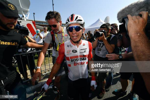 Arrival / Caleb Ewan of Australia and Team Lotto Soudal / Celebration / during the 106th Tour de France 2019, Stage 16 a 177km stage from Nîmes to...