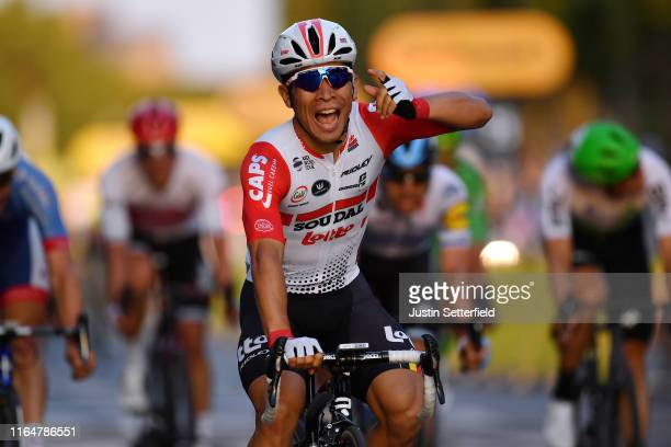 Arrival / Caleb Ewan of Australia and Team Lotto Soudal / Celebration / during the 106th Tour de France 2019, Stage 21 a 128km stage from Rambouillet...