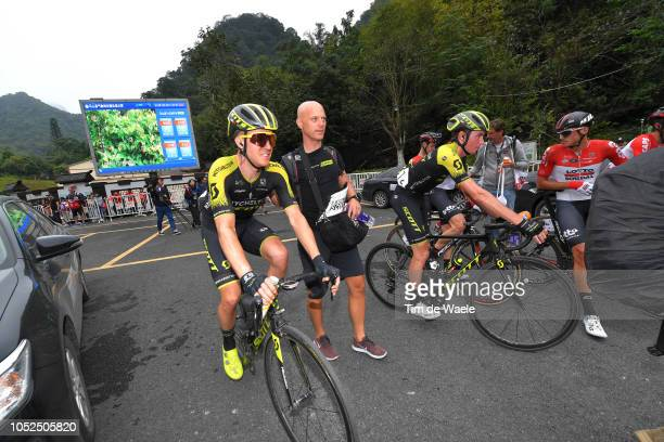 Arrival / Cameron Meyer of Australia and Team MitcheltonScott / Lucas Hamilton of Australia and Team MitcheltonScott / during the 2nd Tour of Guangxi...
