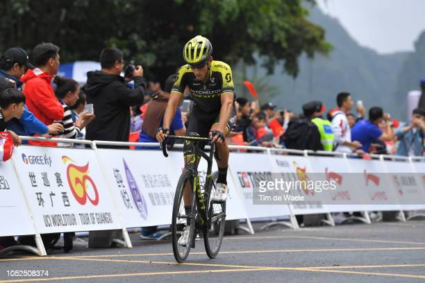 Arrival / Carlos Verona Quintanilla of Spain and Team MitcheltonScott / during the 2nd Tour of Guangxi 2018 Stage 4 a 1522km stage from Nanning to...
