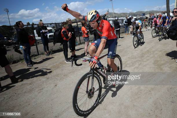 Arrival / Celebration / Ivan Garcia Cortina of Spain and Team Bahrain Merida / during the 14th Amgen Tour of California 2019 Stage 5 a 2195km stage...