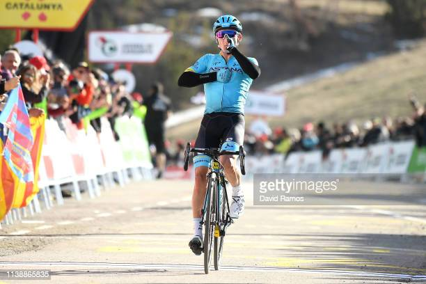 Arrival / Celebration / Miguel Angel Lopez Moreno of Colombia and Astana Pro Team / during the 99th Volta Ciclista a Catalunya 2019 Stage 4 a 1503km...