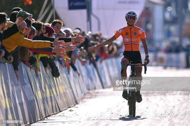 Arrival / Ceylin Del Carmen Alvarado of The Netherlands / Celebration / Public / Fans / during the 17th UEC European Cyclocross Championships 2019 -...