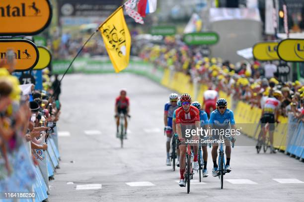 Arrival / Chad Haga of The United States and Team Sunweb / Carlos Verona of Spain and Movistar Team / during the 106th Tour de France 2019 Stage 18 a...