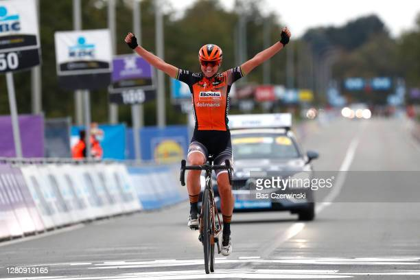 Arrival / Chantal Van Den Broek - Blaak of The Netherlands and Boels Dolmans Cycling Team / Celebration / during the 17th Tour of Flanders 2020 -...