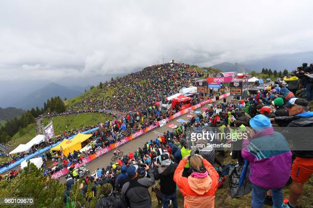 Arrival / Christopher Froome of Great Britain and Team Sky / Celebration / Simon Yates of Great Britain and Team Mitchelton-Scott Pink leader Jersey...