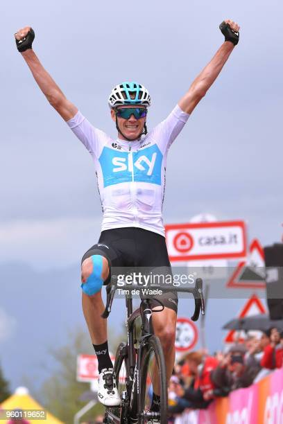 Arrival / Christopher Froome of Great Britain and Team Sky / Celebration / during the 101st Tour of Italy 2018, Stage 14 a 186km stage from San Vito...