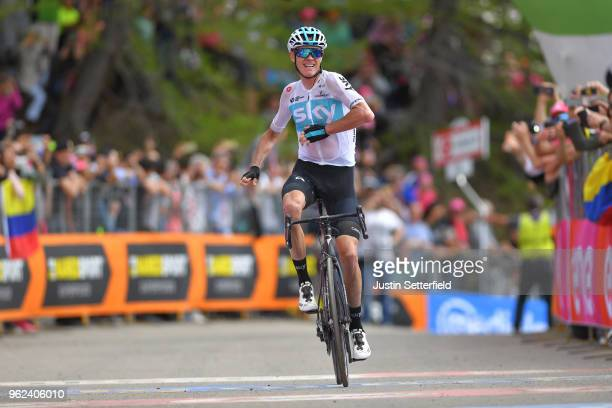 Arrival / Christopher Froome of Great Britain and Team Sky / Celebration / during the 101st Tour of Italy 2018, Stage 19 a 185km stage from Venaria...