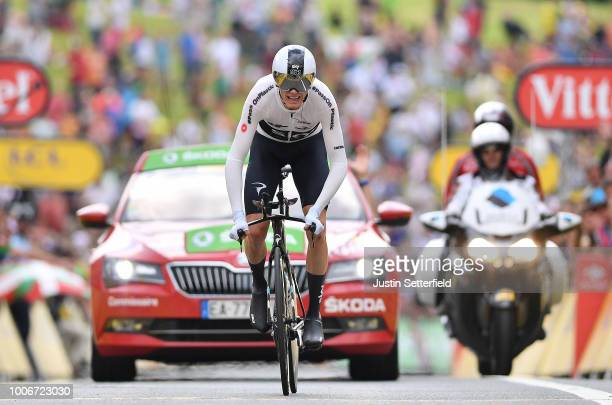 Arrival / Christopher Froome of Great Britain and Team Sky / during the 105th Tour de France 2018, Stage 20 a 31km Individual Time Trial stage from...