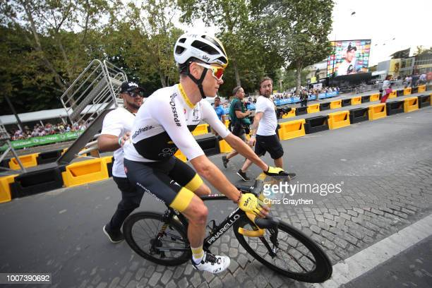 Arrival / Christopher Froome of Great Britain and Team Sky / during the 105th Tour de France 2018 Stage 21 a 116km stage from Houilles to Paris...