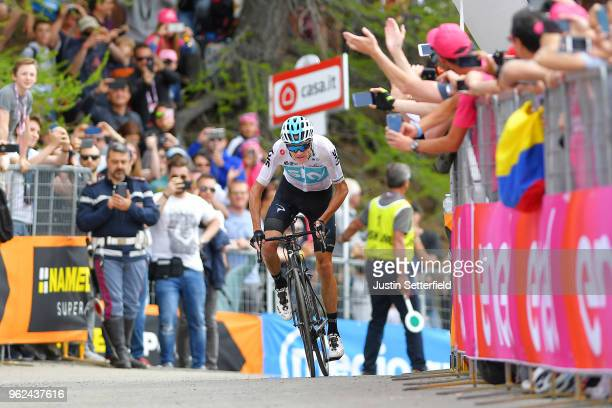 Arrival / Christopher Froome of Great Britain and Team Sky / Fans / Public / during the 101st Tour of Italy 2018, Stage 19 a 185km stage from Venaria...