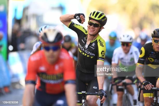 Arrival / Christopher Juul Jensen of Denmark and Team Mitchelton Scott / Celebration / during 70th Volta a la Comunitat Valenciana 2019 Stage 2 a...