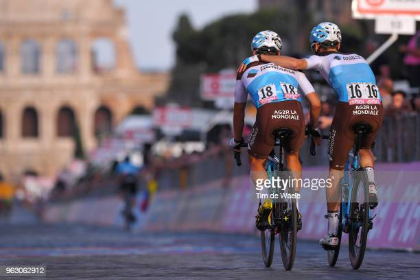 Arrival / Clement Venturini of France and Team AG2R La Mondiale / Quentin Jauregui of France and Team AG2R La Mondiale / during the 101st Tour of...