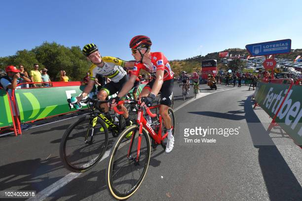 Arrival / Damien Howson of Australia and Team Mitchelton-Scott / Rohan Dennis of Australia and BMC Racing Team Red Leader Jersey / during the 73rd...
