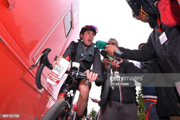 Arrival / Daniel Martin of Ireland and UAE Team Emirates / Celebration / Press Media / Bottle / during the 70th Criterium du Dauphine 2018, Stage 4 a...