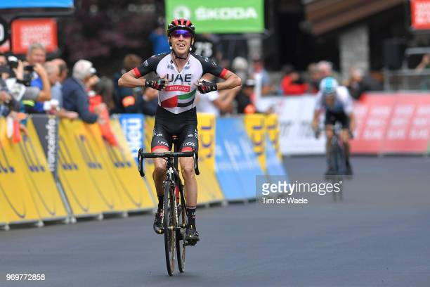 Arrival / Daniel Martin of Ireland and UAE Team Emirates / Celebration / during the 70th Criterium du Dauphine 2018, Stage 5 a 130km stage from...