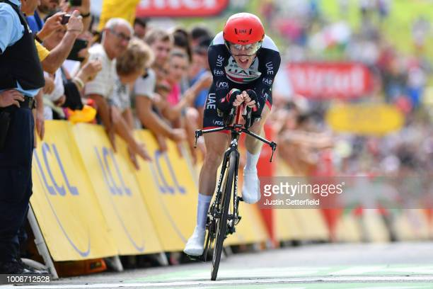 Arrival / Daniel Martin of Ireland and UAE Team Emirates / during the 105th Tour de France 2018, Stage 20 a 31km Individual Time Trial stage from...