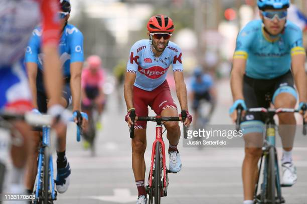 Arrival / Daniel Navarro Garcia of Spain and Team KatushaAlpecin / during the 5th UAE Tour 2019 Stage 7 a 145km stage from Dubai Safari Park to Dubai...