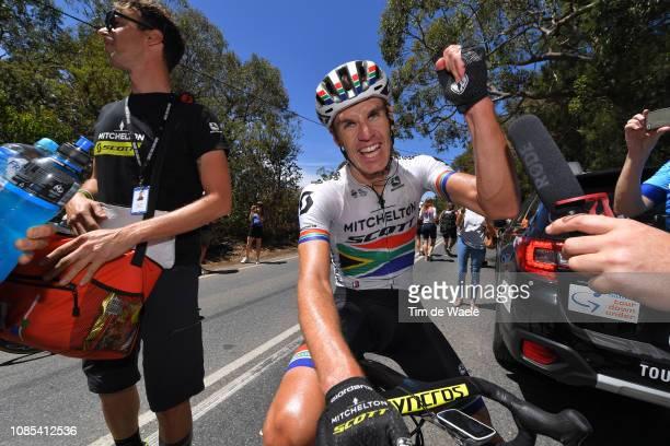 Arrival / Daryl Impey of South Africa and Team Mitchelton-Scott / Celebration / during the 21st Santos Tour Down Under 2019, Stage 6 a 151,5km stage...