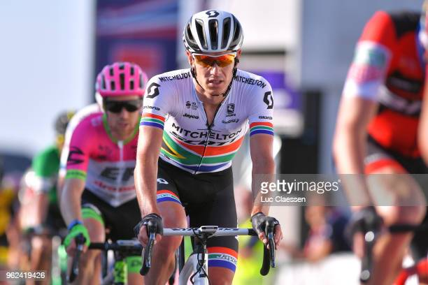 Arrival / Daryl Impey of South Africa and Team MitcheltonScott / during 2nd Velon Hammer Series 2018 Stage 1 a 792km stage from Sandnes to...