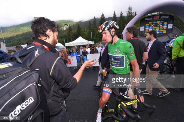 Arrival / Daryl Impey of South Africa and Team MitcheltonScott Green Sprint Jersey / during the 70th Criterium du Dauphine 2018 Stage 5 a 130km stage...