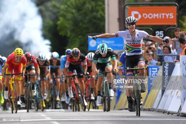 Arrival / Daryl Impey of South Africa and Team Mitchelton-Scott / Celebration / Julian Alaphilippe of France and Team Quick-Step Floors / Pascal...