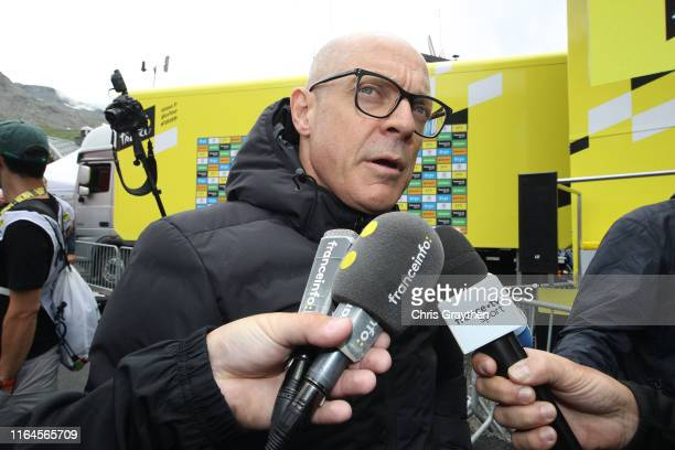 Arrival / Dave Brailsford of United Kingdom Team Manager of Team INEOS / Press / Media / Interview / during the 106th Tour de France 2019, Stage 20 a...