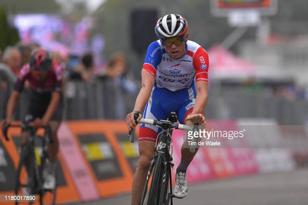 Arrival / David Gaudu of France and Team Groupama - FDJ / during the 100th Milano - Torino 2019 a 179km race from Magenta to Torino - Basilica di...