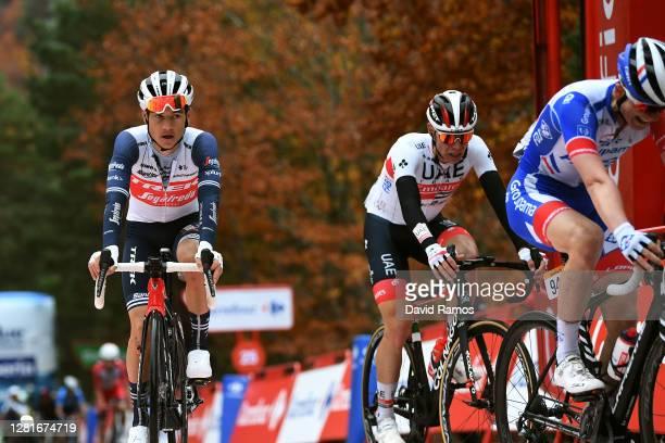 Arrival / David Gaudu of France and Team Groupama - FDJ / Kenny Elissonde of France and Team Trek - Segafredo / David de la Cruz Melgarejo of Spain...