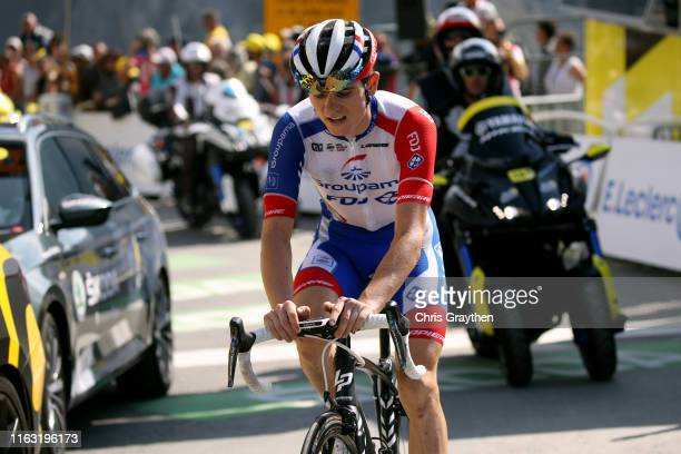 Arrival / David Gaudu of France and Team Groupama-FDJ / during the 106th Tour de France 2019, Stage 14 a 117km stage from Tarbes to Tourmalet Barèges...