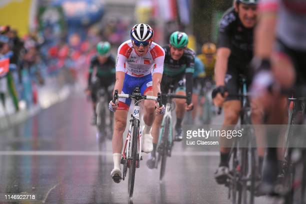 Arrival / David Gaudu of France and Team GroupamaFDJ White Best Young Rider Jersey / during the 73rd Tour de Romandie 2019 Stage 4 a 1076km stage /...
