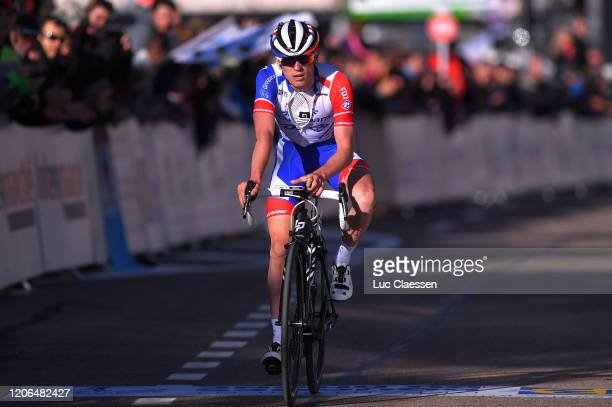 Arrival / David Gaudu of France Team Groupama - FDJ / during the 5th Tour de La Provence 2020, Stage 3 a 143,5km stage from Istres to Chalet Reynard...