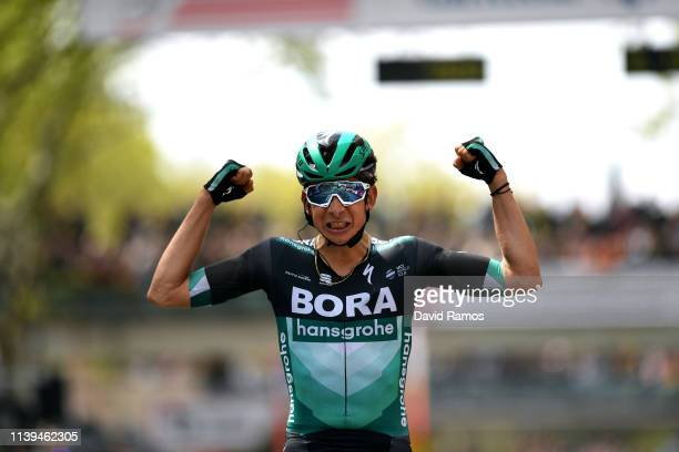 Arrival / Davide Formolo of Italy and Team Bora - Hansgrohe / Celebration / during the 99th Volta Ciclista a Catalunya 2019, Stage 7 a 143,1km stage...
