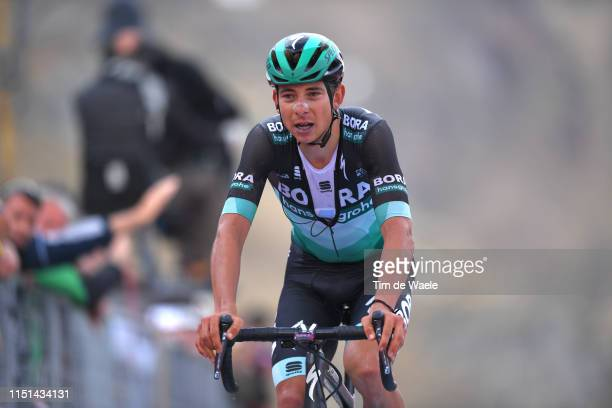 Arrival / Davide Formolo of Italy and Team Bora - Hansgrohe / during the 102nd Giro d'Italia 2019, Stage 13 a 196km stage from Pinerolo to Ceresole...