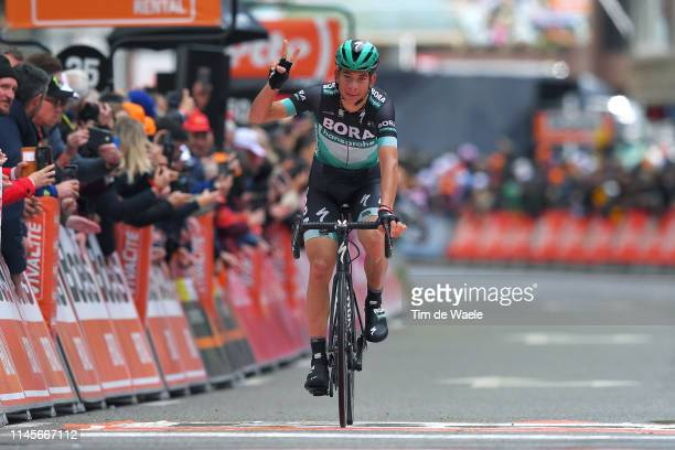 Arrival / Davide Formolo of Italy and Team Bora-Hansgrohe / Celebration / during the 105th Liege - Bastogne - Liege 2019 a 256km race from Liege to...