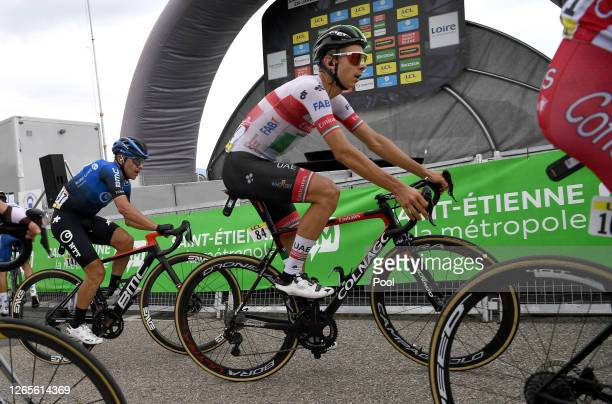 Arrival / Davide Formolo of Italy and Team UAE Team Emirates / Domenico Pozzovivo of Italy and NTT Pro Cycling Team / during the 72nd Criterium du...