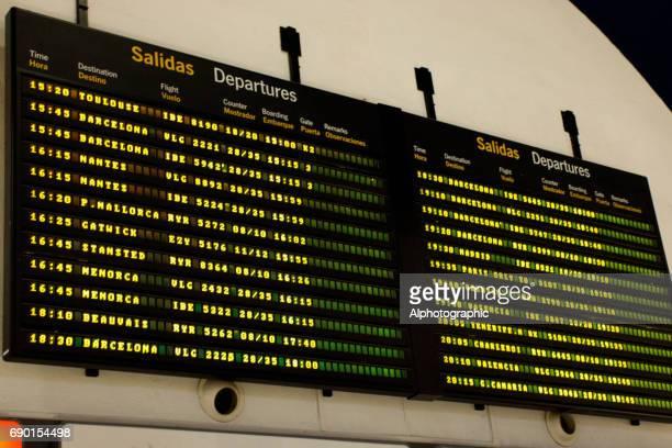 Arrival departure board