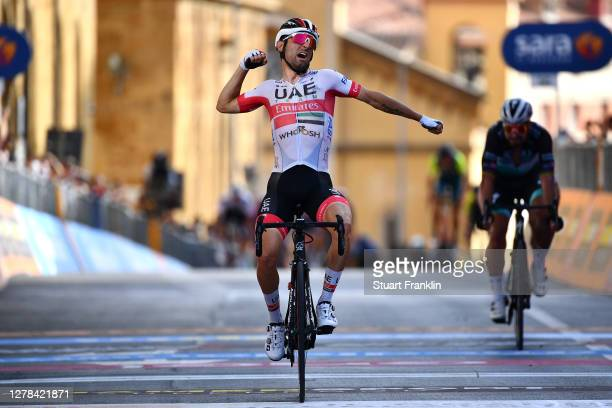 Arrival / Diego Ulissi of Italy and UAE Team Emirates / Celebration / Peter Sagan of Slovakia and Team Bora - Hansgrohe / during the 103rd Giro...