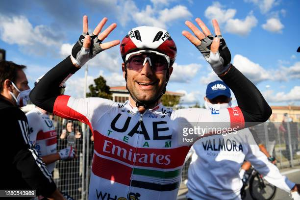 Arrival / Diego Ulissi of Italy and UAE Team Emirates / Celebration / during the 103rd Giro d'Italia 2020, Stage 13 a 192km stage from from Cervia to...