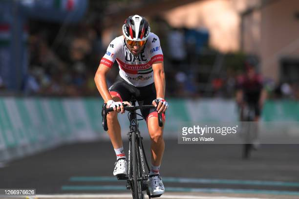 Arrival / Diego Ulissi of Italy and UAE Team Emirates / during the 103rd Giro dell'Emilia 2020, Men Elite a 199,7km race from Casalecchio di Reno to...