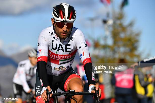 Arrival / Diego Ulissi of Italy and UAE Team Emirates / during the 103rd Giro d'Italia 2020, Stage 20 a 190km stage from Alba to Sestriere 2035m /...