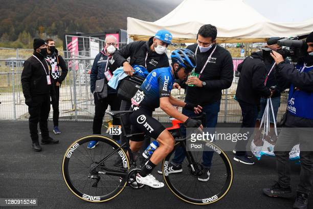 Arrival / Domenico Pozzovivo of Italy and NTT Pro Cycling Team / during the 103rd Giro d'Italia 2020, Stage 15 a 185km stage from Base Aerea Rivolto...