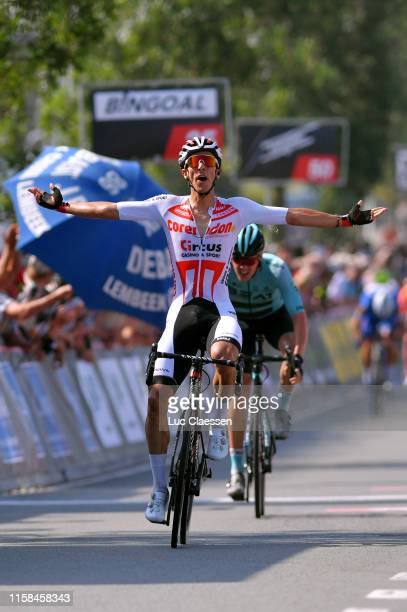 Arrival / Dries De Bondt of Belgium and Team Corendon Circus / Celebration / Piotr Havik of The Netherlands and Team Beat Cycling Club / during the...