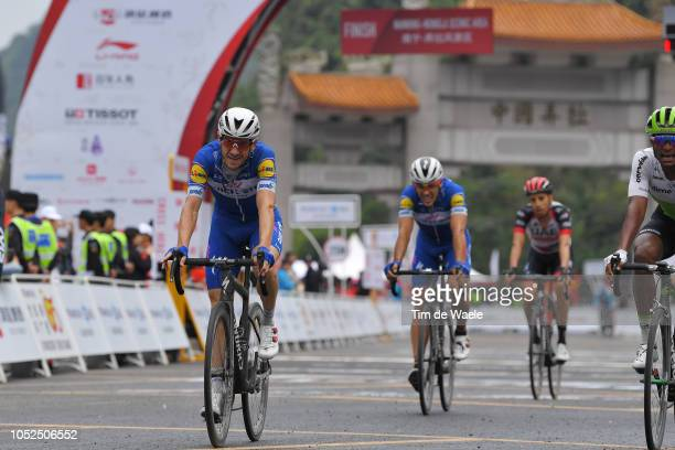 Arrival / Dries Devenyns of Belgium and Team QuickStep Floors / during the 2nd Tour of Guangxi 2018 Stage 4 a 1522km stage from Nanning to Mashan...