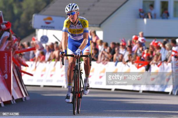 Arrival / Dries Van Gestel of Belgium and Team Sport VlaanderenBaloise / during the 11th Tour des Fjords 2018 Stage 3 a 183km stage from Farsund to...