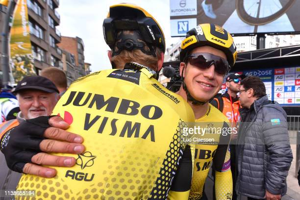 Arrival / Dylan Groenewegen of The Netherlands and Team Jumbo-Visma / Celebration / during the 43rd Driedaagse Brugge - De Panne 2019, Men Classic a...